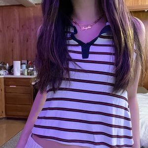 Striped Collared Tank